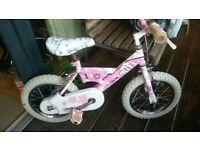 "Girls Raleigh Mini Miss Pink Bike with 14"" Wheels (VGC)"
