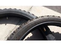 20 x 1.95 BIKE TYRES WITH TUBES - 20 INCH