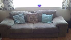 Two Three seater sofas in reasonably good condition.