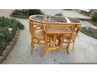 Space saving table and 2 chair dining set in excellent condition