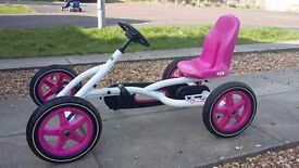 Girls Go Kart Rubber Air Filled Tyres Excellent Condition