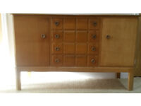 COLLECTIBLE VINTAGE SIDEBOARD - Solid Wood - Made by Gordon Russell of Broadway