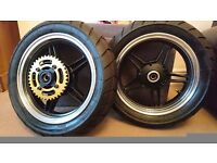 12 inch mags with sava road legal race tyres