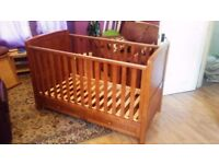 Silver Cross cot/toddler bed, in walnut, with drawer underneath