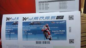 Motogp tickets for Circuit de Jerez. 2 x adult passes to C2. Fri 5th toSun 7th. Offers