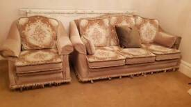 Large comfy sofa and arm chairs
