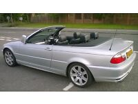 BMW 320i SE CABRIOLET ELECTRIC ROOF FULL BLACK LEATHER PX CLK A4 SAAB GOOD CONDITION DRIVES SUPERB