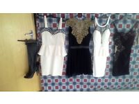 joblot dresses some with tags and boots size 5