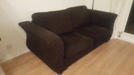 Three seater sofa bed with mattress and matching chair, excellent condition