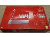 Nintendo Wii Red Anniversary Edition. 1 motion controller, 2 games. Original Box