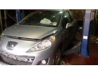 PEUGEOT 207 2010 BLUE BREAKING MOST PARTS AVAILABLE