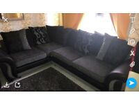 Dfs corner sofa with matching foot stool