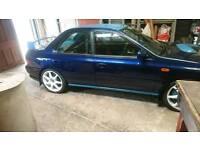 Subaru wrx rally car