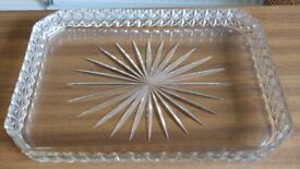 Cut Glass dressing table tray