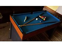 multi games table including pools table, bar football and air hockey