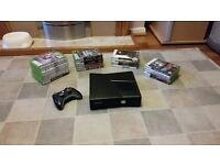 Xbox 360 console, controller and 25 games for sale