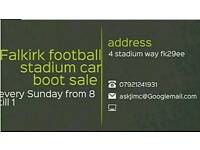 Falkirk football stadium car boot sale every Sunday