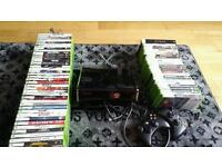 Xbox 360 slim 320GB with 65 games