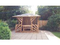 Solid wooden gazebo garden building summer house shed