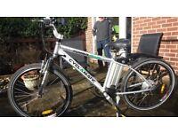 2 CYCLAMATIC ELECTRIC BIKES. 1 man's and 1 ladies folding bike. £280 each.