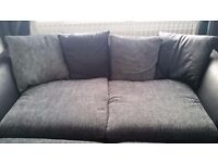 2 x 3 seater sofas in excellent condition black/grey £200