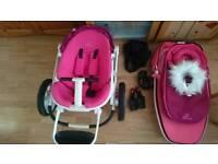 Quinny moodd pink travel system