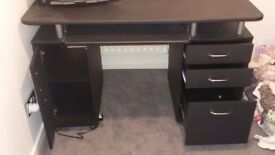 Black office desk for sale