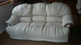 Leather sofa, arm chair and recliner