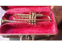Lafleur Trumpet by Boosey & Hawkes, includes vintage case, Denis Wick & Selmer mutes.