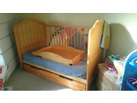 Mamas and Papas Amie (Hayworth) cot bed, storage drawer and cot top changer