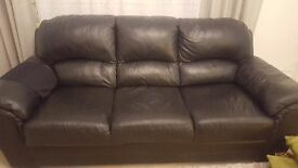 Lether 3 seater sofa