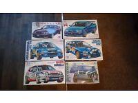 Assorted tamiya rally car kits