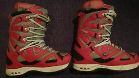 Snowboarding Boots - THIRTY TWO - UK Size 9.5 Red