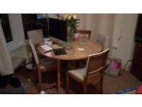 Mid century drop leaf dining table