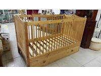 Wooden Cot With Drawer