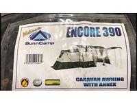 Suncamp encore 390 caravan awning & annex like new