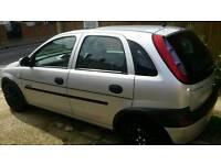 Silver Vauxhall Corsa 1.2petrol 5door