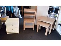 bedside unit and nest o tables