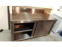 Stainless Steel Preparation Table with underneath Cupboard 2000 x 650 x 720