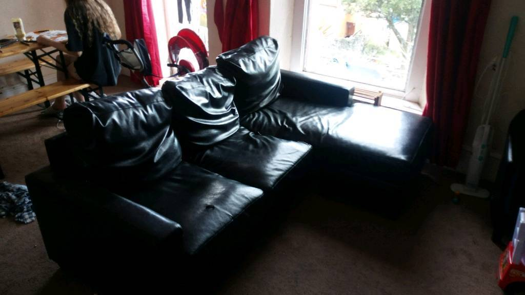 Strange Faux Leather Corner Sofa In Plymouth Devon Gumtree Home Interior And Landscaping Mentranervesignezvosmurscom