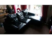 Faux Leather corner sofa