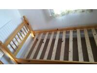 Single bed with memory foam mattresses