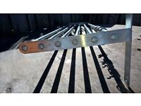 stainless steel pan rack with hooks