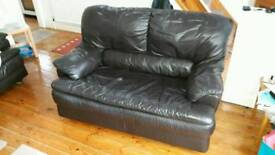3 SEATER & 2 SEATER MATCHING LEATHER SOFAS