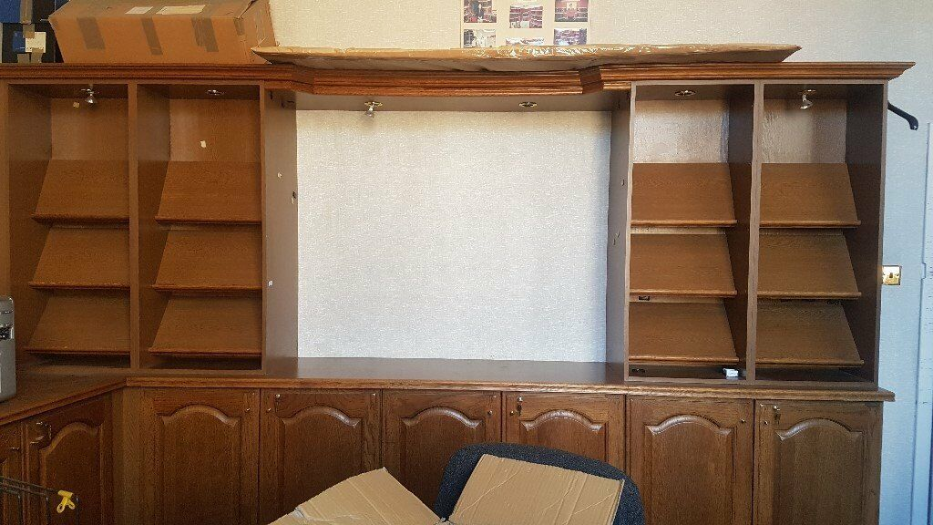 Neville Johnson Bespoke Oak Office Furniture Unit Cabinet FREE