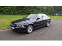 BMW E39 525i SE Manual Saloon, Blue, 2000 X reg, Leather, potential spares or repairs, drift car