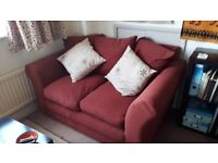 2-Seater Sofa (2 of 2) - Terracotta Coloured - Pet Free/Smoke Free