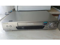 VHS VCR Video Cassette Recorder Panasonic Stereo Hi Fi Slow Motion Hi Specs 6 Heads Super Drive Dub