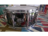 Gregg Bissonette Signature Snare Drum 14 x 6.5 with Puresound Snares and Evans Heads
