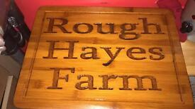 Farmers signs and plaques